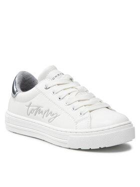 Tommy Hilfiger Tommy Hilfiger Sneakersy Low Cute Lace-Up Sneaker T3A4-31163-1190 M Biały