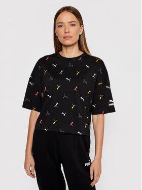 Puma Puma T-shirt Classics Graphic Aop 531633 Nero Relaxed Fit