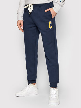 Champion Champion Spodnie dresowe Collegiate C Logo 216573 Granatowy Regular Fit