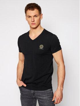 Versace Versace Tričko Scollo AUU01004 Čierna Regular Fit