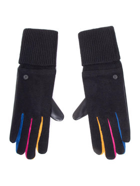 Desigual Desigual Dámské rukavice 20WAAK03 Černá