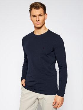 Tommy Hilfiger Tommy Hilfiger Тениска с дълъг ръкав Stretch Tee MW0MW10804 Тъмносин Slim Fit