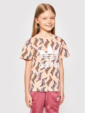 adidas adidas T-shirt Allover Print Tee GN2212 Narančasta Regular Fit