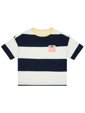 Lacoste Lacoste T-Shirt TJ0240 Tmavomodrá Regular Fit