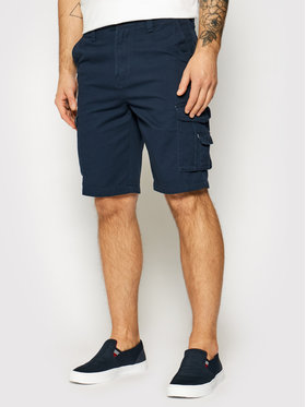 Quiksilver Quiksilver Pantalon scurți din material Crucial Battle EQYWS03456 Bleumarin Tapered Fit