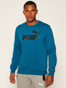 Puma Puma Bluza Ess+ Crew Sweat Fleece Big Logo 855082 Niebieski Regular Fit