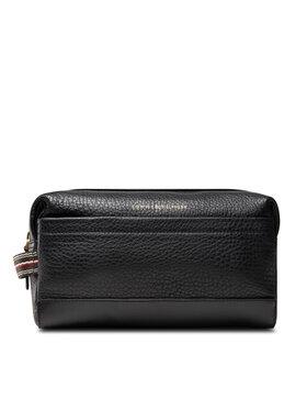 Tommy Hilfiger Tommy Hilfiger Geantă pentru cosmetice Casual Leather Washbag AM0AM07992 Negru