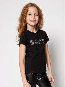 DKNY DKNY T-Shirt D35Q77 S Czarny Regular Fit