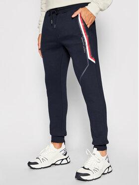 Tommy Hilfiger Tommy Hilfiger Spodnie dresowe Split MW0MW21117 Granatowy Regular Fit