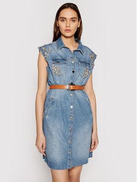 Liu Jo Liu Jo Sukienka jeansowa UA1059 D4549 Niebieski Regular Fit