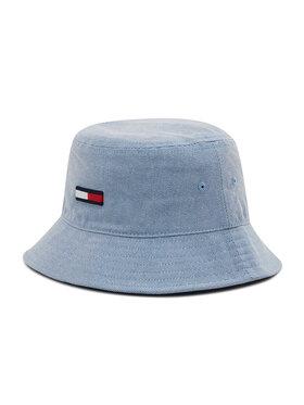 Tommy Jeans Tommy Jeans Klobúk typu bucket Flag Washed Denim AW0AW10193 Modrá