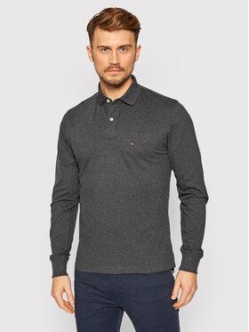 TOMMY HILFIGER TOMMY HILFIGER Тениска с яка и копчета MW0MW15473 Сив Regular Fit
