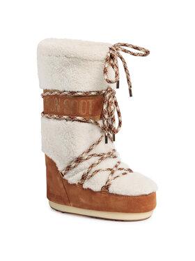 Moon Boot Moon Boot Μπότες Χιονιού Shearling 14026100001 Λευκό