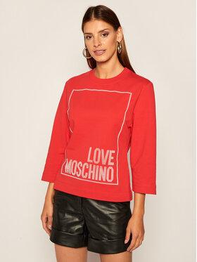LOVE MOSCHINO LOVE MOSCHINO Majica dugih rukava W637104E 2182 Crvena Regular Fit