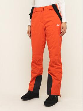 Jack Wolfskin Jack Wolfskin Spodnie narciarskie Bridgeport 1111841-3032 Pomarańczowy Regular Fit