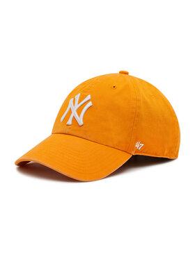 47 Brand 47 Brand Czapka z daszkiem Mlb New York Yankees B-RGW17GWS-VO Pomarańczowy
