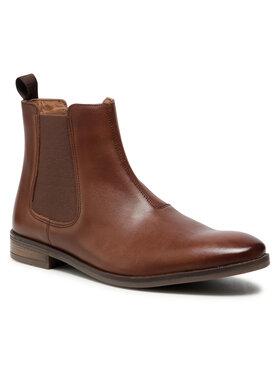 Clarks Clarks Kotníková obuv s elastickým prvkem Stanford Top 261548437 Hnědá