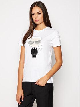 KARL LAGERFELD KARL LAGERFELD T-shirt Ikonik Karl 205W1705 Blanc Regular Fit