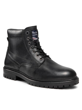 Pepe Jeans Pepe Jeans Outdoorová obuv Ned Boolt Lth Warm PMS50215 Čierna