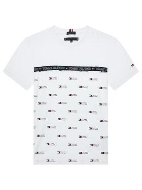 Tommy Hilfiger Tommy Hilfiger T-shirt Aop Tape Tee KB0KB06524 M Blanc Regular Fit