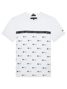 Tommy Hilfiger Tommy Hilfiger T-Shirt Aop Tape Tee KB0KB06524 M Weiß Regular Fit