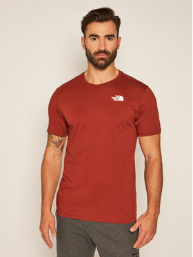 The North Face The North Face Marškinėliai Ss Redbox Cel Tee NF0A2ZXEVW71 Ruda Regular Fit