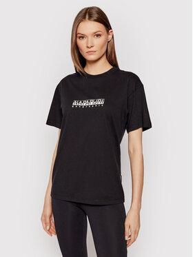 Napapijri Napapijri T-shirt S-Box NP0A4FSM Crna Regular Fit