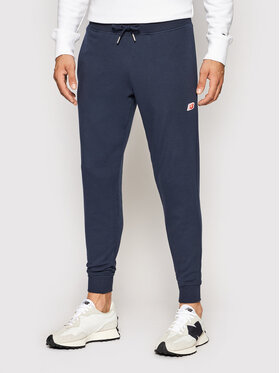 New Balance New Balance Teplákové kalhoty MP01664 Tmavomodrá Regular Fit