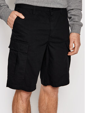 DC DC Pantalon scurți din material Warehouse ADYWS03056 Negru Relaxed Fit