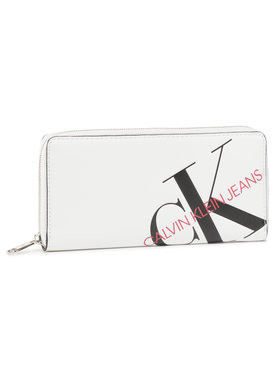 Calvin Klein Jeans Calvin Klein Jeans Portefeuille femme grand format Zip Around K60K606875 Blanc