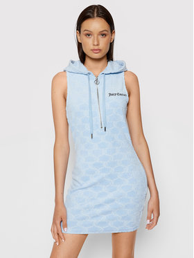 Juicy Couture Juicy Couture Džemper haljina Nova JCWE121010 Plava Slim Fit