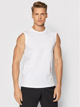 4F 4F Tank top marškinėliai TSM001 Balta Regular Fit