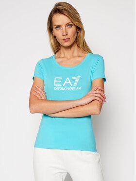 EA7 Emporio Armani EA7 Emporio Armani T-shirt 8NTT63 TJ12Z 1517 Plava Slim Fit
