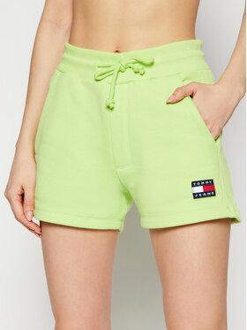 Tommy Jeans Tommy Jeans Pantaloni scurți sport Tjw Badge Sweatshort DW0DW09754 Verde Regular Fit