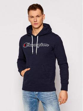 Champion Champion Sweatshirt Satin Script Logo 214183 Dunkelblau Comfort Fit