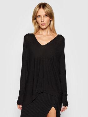 Kontatto Kontatto Sweater 3M7204 Fekete Relaxed Fit