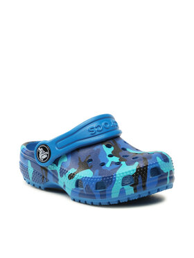 Crocs Crocs Mules / sandales de bain Classic Printed Clog K 205813 Bleu marine