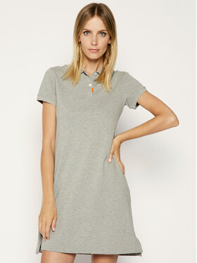 NIKE NIKE Kasdieninė suknelė Polo BV0193 Pilka Standard Fit