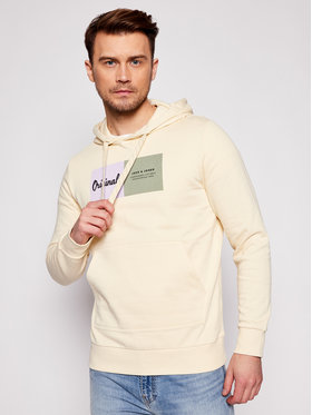 Jack&Jones Jack&Jones Mikina Joshuas Sweat 12185697 Žltá Regular Fit