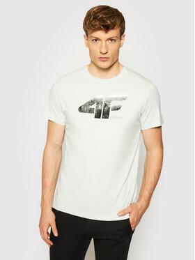 4F 4F T-Shirt H4L21-TSM024 Grau Regular Fit