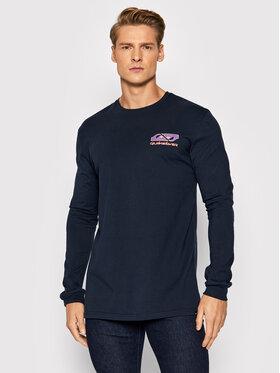 Quiksilver Quiksilver Тениска с дълъг ръкав Return To The Moon EQYZT06552 Тъмносин Regular Fit