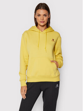 Converse Converse Sweatshirt Embroidered Star 10020872-A18 Jaune Regular Fit
