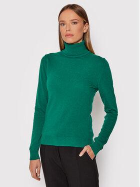 United Colors Of Benetton United Colors Of Benetton Bluză cu gât 1002D2348 Verde Regular Fit