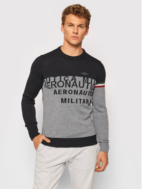 Aeronautica Militare Aeronautica Militare Sweater 212MA1354L384 Fekete Regular Fit