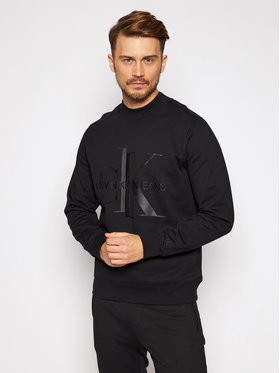 Calvin Klein Jeans Calvin Klein Jeans Sweatshirt Mongram Logo J30J316508 Schwarz Regular Fit