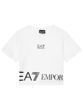 EA7 Emporio Armani EA7 Emporio Armani Marškinėliai 3KFT52 FJ7CZ 1100 Balta Regular Fit