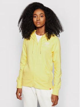 New Balance New Balance Bluza Essentials WJ03530 Żółty Relaxed Fit