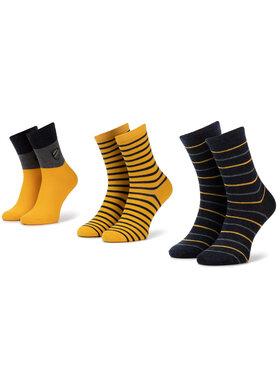 Mayoral Mayoral Sada 3 párů dětských vysokých ponožek 10675 Žlutá