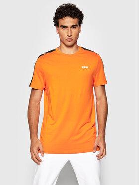 Fila Fila T-Shirt Nam 689137 Pomarańczowy Regular Fit