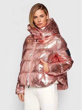 Pinko Pinko Pernata jakna Giza 1 AI 21-22 BLK01 1G16D6 Y76P Ružičasta Regular Fit